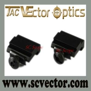 Vector Optics 21mm 20mm Picatinny Weaver Rail to 11mm 10mm Dovetail Rail Mount Adapter pictures & photos