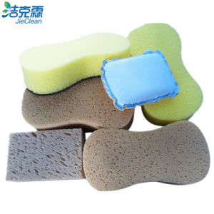 Car Cleaning Seaweed Foam Polishing Brush pictures & photos