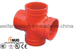 China Professional Manufacturer of Ductile Cast Iron Grooved Reducing/Equal Cross UL/FM Approval pictures & photos