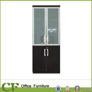 Italy Type Wood Forest Glass Door File Cabinet Office Furniture pictures & photos