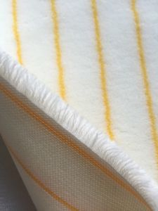 Senhe 720GSM 12mm White and Yellow D144 Fabric pictures & photos