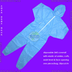 Disposable SMS Coverall pictures & photos