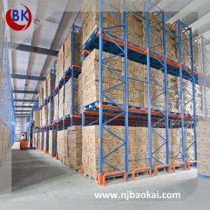 Blue And Orange Warehouse Storage Rack