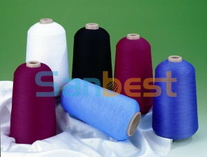 100% Colorful High Quality Polyester Textured Thread for Underwear pictures & photos