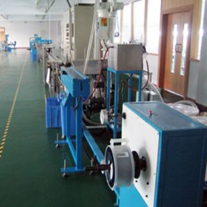 Tight Buffered Optical Fiber LSZH/PVC Extruder Machine Extrusion Production Line pictures & photos