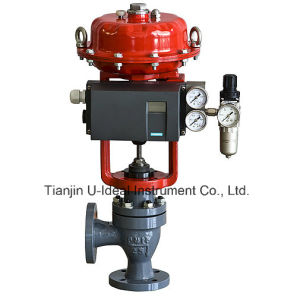with Intelligent Positioner-Flange Type Regulating Pneumatic Angle Seat Valve pictures & photos