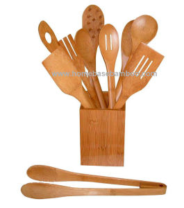 Bamboo Kitchen Utensil Tools Set (HB-712) pictures & photos