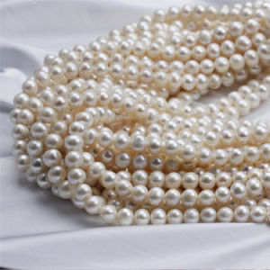 9-10mm off Round Zhuji Cultured Natural Freshwater Pearl Bead Price pictures & photos