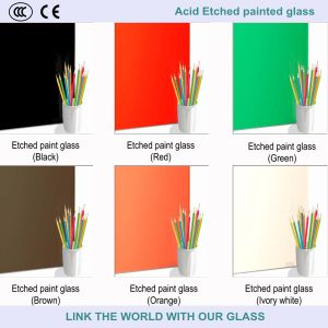Acid Etched Mirror/Painted Frosted Glass for Decoration pictures & photos