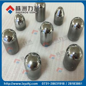 Sandblasted Tungsten Carbide Buttons with Flat Top Surface