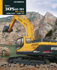 Hyundai 30t Cummins Engine Backhoe Crawler Excavator pictures & photos