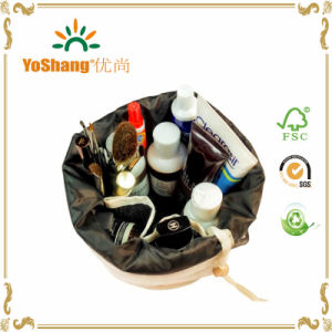 Wholesale Cheap Canvas Cosmetic Bag, Women Travelling Drawstring Cosmetic Bag pictures & photos