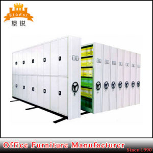 Knock Down Structure Steel Filing Compactors Metal Mobile Bookshelf Mass Shelving Rack pictures & photos