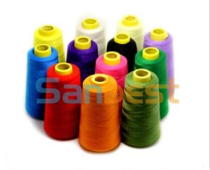100% High Quality Colorful Spun Polyester Sewing Thread 40s/3 pictures & photos