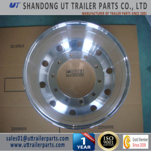 9.0X24.5 Polished Aluminum Alloy Wheel Rim for Truck and Trailer pictures & photos