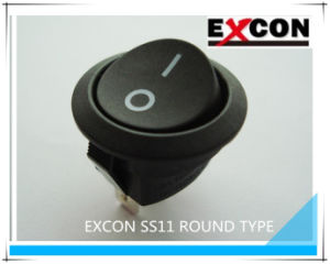 Round Boat Switch Excon Ss11 Electronic Rocker Switch pictures & photos