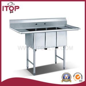 Stainless Steel Triple Sink Bench (FB)
