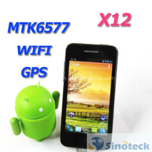 X12 Mtk6577 Android4.0 4.0 Inch Capacitive WCDMA WiFi GPS Smart Phone (X12)