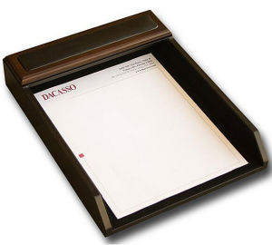 Luxurious Wood Letter Papers Tray for Hotal pictures & photos