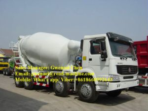 Sinotruck HOWO 8X4 12m3 Self Loading Concrete Mixer Truck for Sale pictures & photos