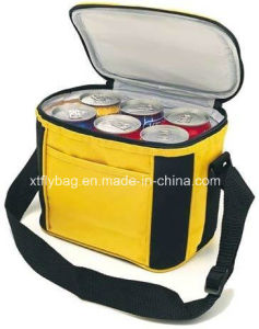 Fashion Non Woven Shoulder Cans Cooler Bag with Front Pocket pictures & photos