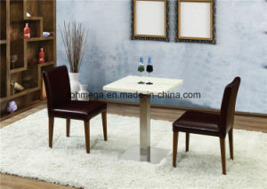 Fast Food Restaurant White Artificial Dining Table and Chair (FOH-BCA87) pictures & photos