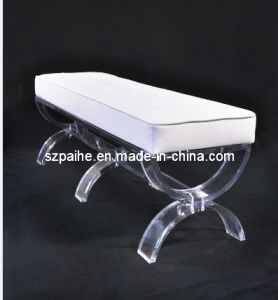 Acrylic Bench with Coushion (CY1001-2)