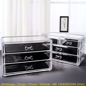Stylish Three Layers Acrylic Cosmetics Display Stand/Makeup Box/Jewelry Box pictures & photos