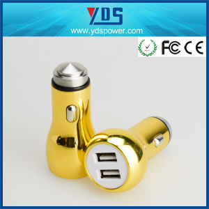 Golden 5V 2.4A Dual USB Car Charger USD1.35 pictures & photos