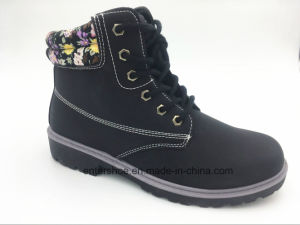Winter Warm PU Women Boots with Middle Cut (ET-XK160211W) pictures & photos