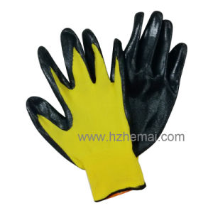 Nylon Nitrile Coated Safety Work Glove pictures & photos
