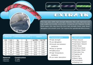 Various Sizes Extra Tk Halyad/Sheet&Control Rope for Racing/Keel Boat/Multihull pictures & photos