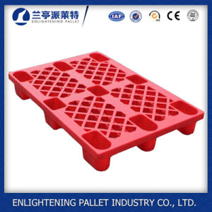 Heavy Duty 4 Ways Single Face 9 Legs Plastic Pallet pictures & photos