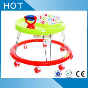 Plastic Simple Round Baby Walker with Silicone Wheel pictures & photos