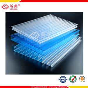 Clear Transparent 4mm 6mm 10mm Twin Wall Polycarbonate Sheet pictures & photos