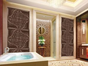 2016 Full Specification New Leather 3D Wall Panel pictures & photos