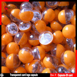 Transparent Plastic Card Capsules for Advertisement Promotion pictures & photos