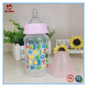 240ml PP Baby Feeding Bottle with Cute Printing pictures & photos