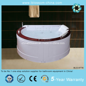 High Quality Luxury Sexy Half Round Massage Bathtub (BLS-8778) pictures & photos