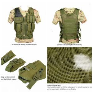 Tactical Army Combat Assault Oxford Fabric Defensive Mesh Vest Cl4-0031 pictures & photos