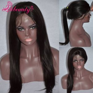 Fast Delivery 100% Peruvian Virgin Hair Medium Size Full Lace Wig pictures & photos