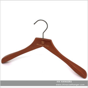 Antique Brown Worn Finish Wooden Suit Wooden Clothes Hanger Hangers for Jeans pictures & photos