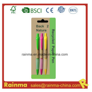 Cheap Paper Ballpoint Pen for School and Office Supply pictures & photos