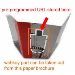 USB Flyer Paper Web Key With Preset URL Pharma Drive USB Insert