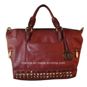 Fashion Ladies′ Leather Tote Bag (M10449) pictures & photos