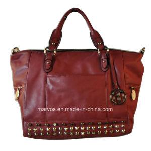Fashion Ladies′ Leather Tote Bag (M10449)
