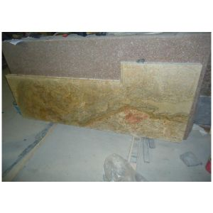 High Quality Natural Stone Gold Table Top for Kitchen pictures & photos