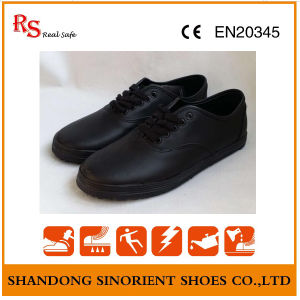 Cheap Kitchen Safety Shoes, Black Steel Cleanroom Safety Shoes RS61 pictures & photos