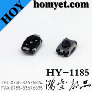 Tact Switch with 4*3*2.5mm 2 Pin SMD Type Black Button Round (HY-1185) pictures & photos