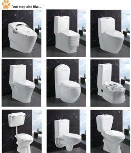 Modern Bathroom Vanity Two Piece White Bathtub Sanitary Ware (EDA66153) pictures & photos